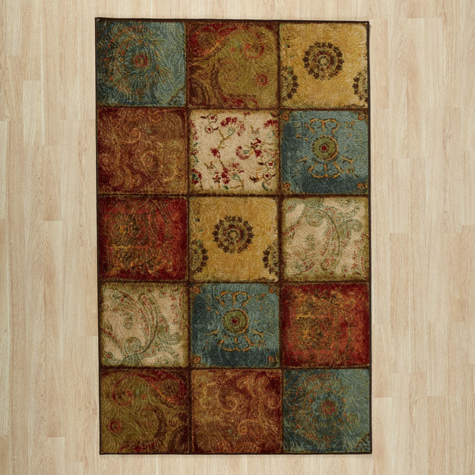 Flower Diamond Honeycomb Pattern Runner Area Rugsbest Fit