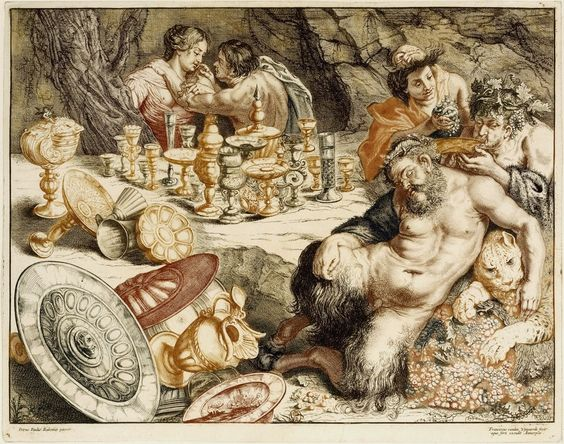 Frans van den Wyngaerde (Flemish, 1614-1679)   The Dream of Silenus, etching, with touches of engraving,