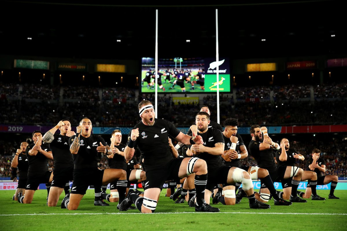 Rugby World Cup 2019 Group B game between New Zealand and South Africa at International Stadium Yokohama
