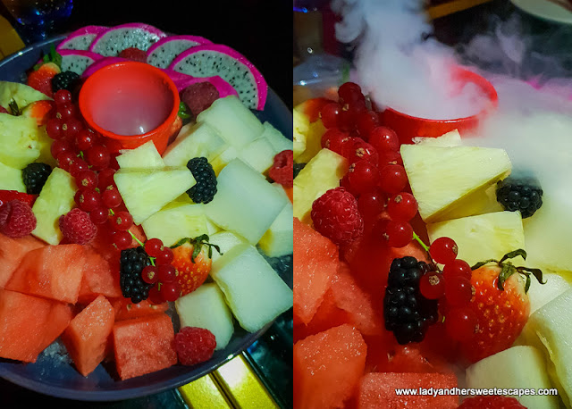 fruit platter in Maison Rouge Dubai