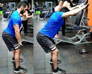 Remo alto en polea para hipertrofia músculos de la espalda