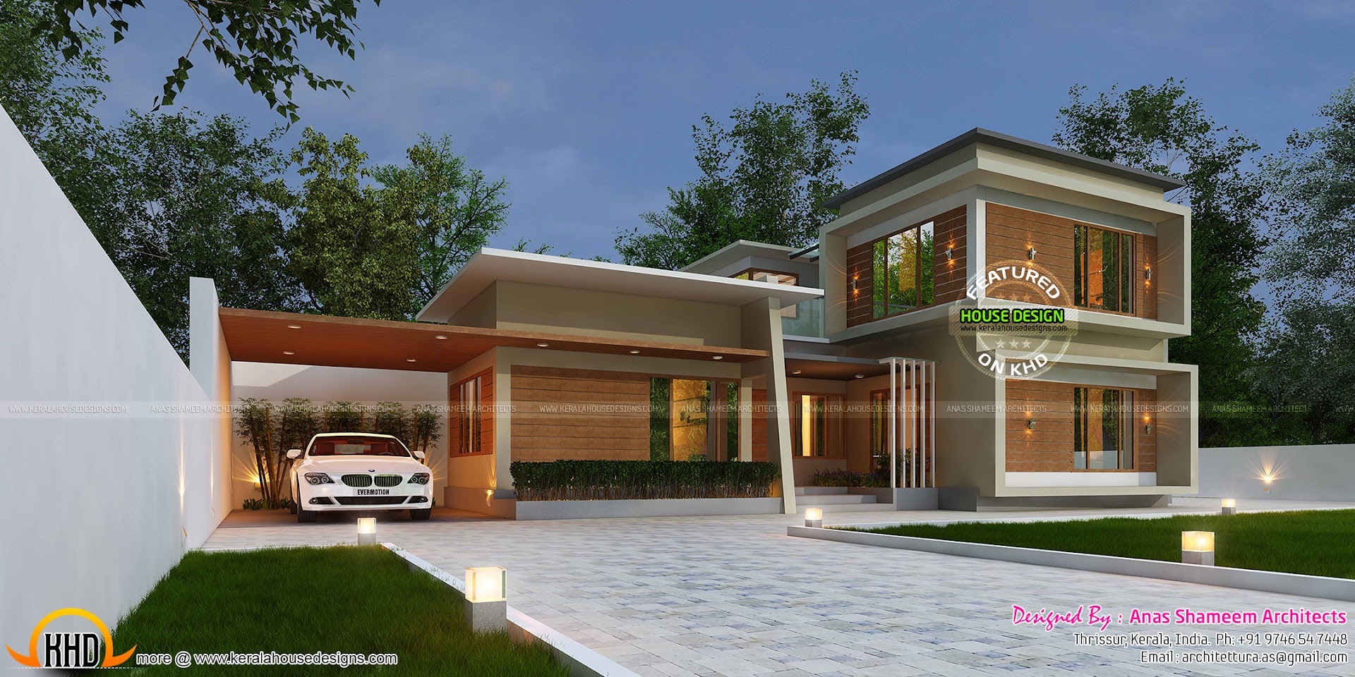 3420 Sq Ft True Contemporary Home Kerala Home Design And