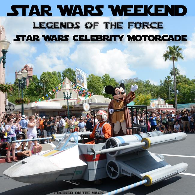 Mickey Star Wars Celebrity Motorcade