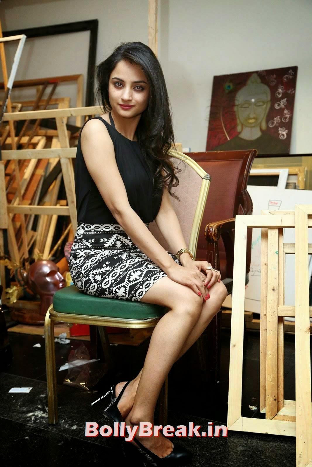 Actress Madirakshi Photos, Actress Madirakshi Hot Pics in Skirt & Black Top