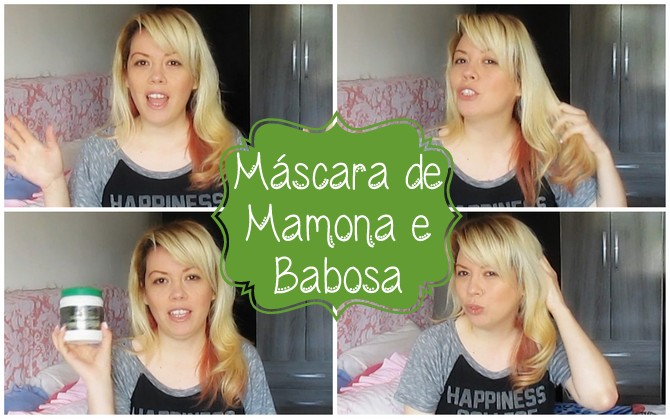 Resenha, mascara capilar, babosa, mamona, Luciana De La Vega