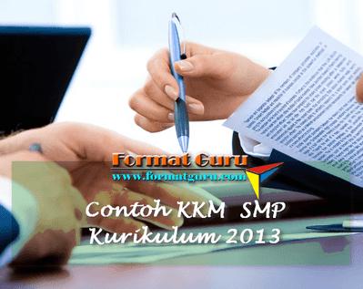 Contoh KKM Bahasa Inggris SMP Kurikulum 2013