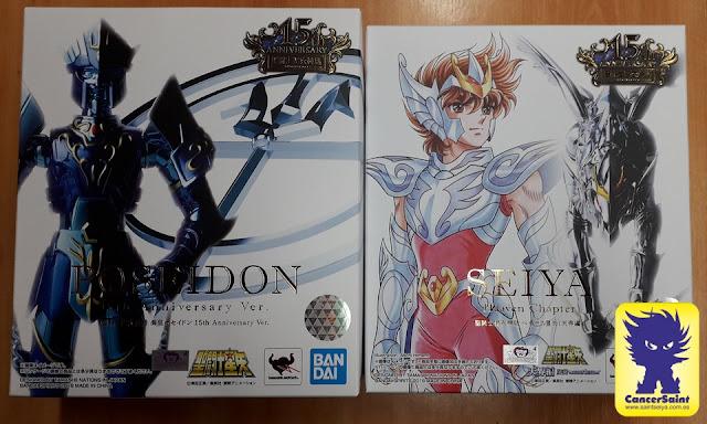 Recibidos Poseidon 15th Anniversary Ver. y Pegaso Heaven Chapter  Myth Cloth
