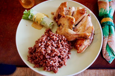 Roast Chicken with Brown Rice at Buzz Cafe