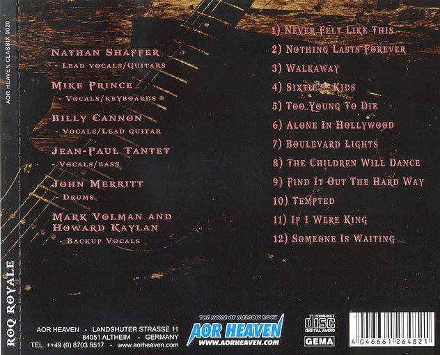 ROQ ROYALE - Roq Royale [AOR Heaven Classix] back
