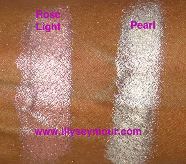 Mac Rose Light and Pearl Pigment Stack