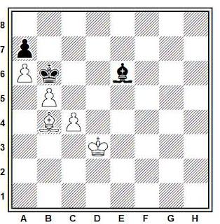 Estudio artístico de ajedrez compuesto por O. J. Carlsson (Corrección, 1976)