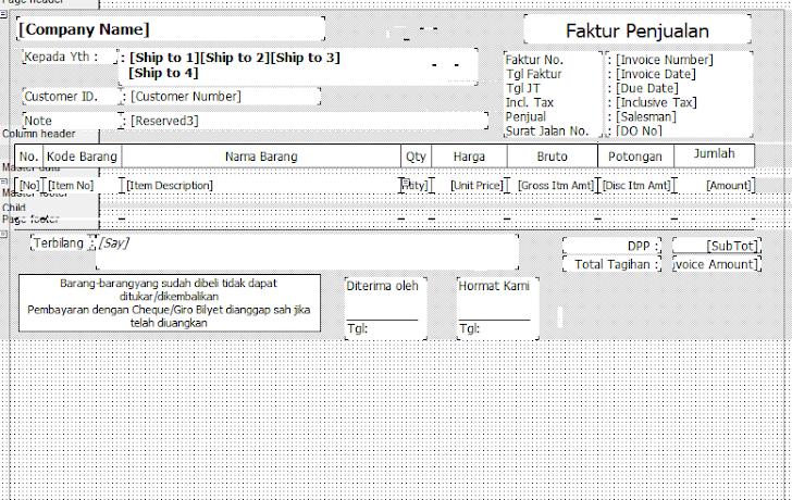 Setting Ukuran Kertas Faktur dan Surat Jalan di Accurate 4 atau 5