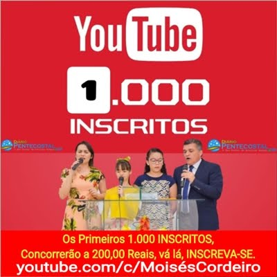 Pr. Moisés Cordeiro - Canal no YouTube