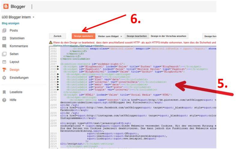 Wie und wo das Design von einem in einen anderen Blog kopieren