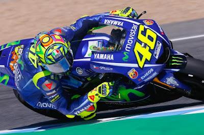 Tes Resmi MotoGP di Jerez, Rossi Terpuruk di Posisi ke-21