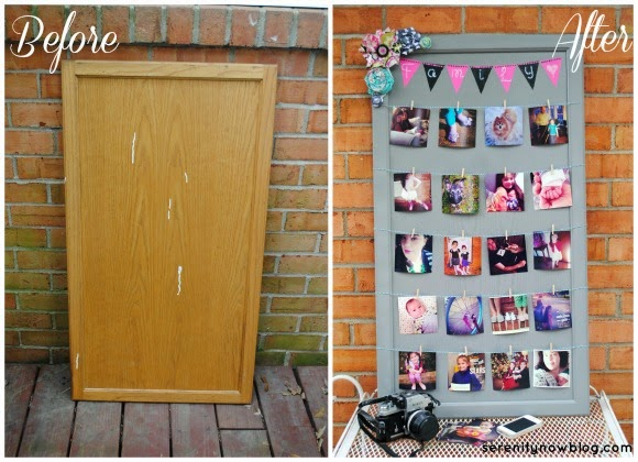 DIY Chalkboard Instagram Photo Display from Serenity Now! #plaidcrafts and #marthastewartcrafts