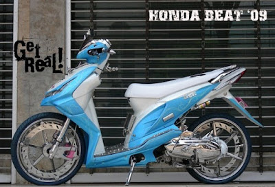 Modif Beat FI Biru Putih Extream Modif