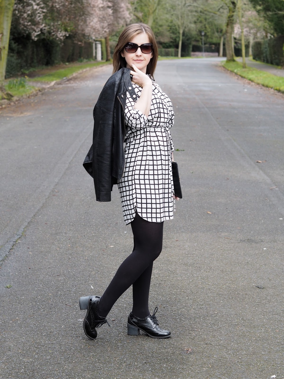 Primark checked shirt dress