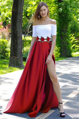 Vestidos largos casuales con escote
