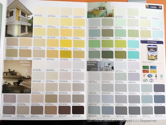 Aku Bukan Bidadari Tips Pilih Color Cat Dinding Mnggunkan Color Pallet Card