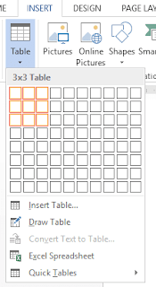 insert table