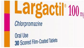 دواء لارغاكتيل LARGACTIL مضاد الذهان, لـ علاج, الذهان، العدوانية, الفُصام، الهَوَس، الخرف,  اضطراب القلق, البرفيرية الحادة, انفصام الشخصية, اضطراب التحدي الاعتراضي, الكزاز المستعصي, الغثيان والتقيؤ الذي يسببه علاج دوائي أو إشعاعي أو كنتيجة لتخدير عام, السلوكيات العدوانية او النشاط المفرط عند الأطفال (1 - 12 سنة).