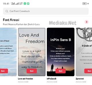 Beli Font Theme Store Di Realme 5i
