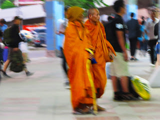 Thailand Buddhist Monks traveling