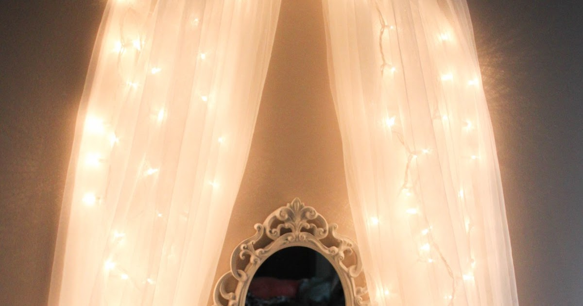 Leslie Loves Makeup Diy Fairy Light Vanity Area Original