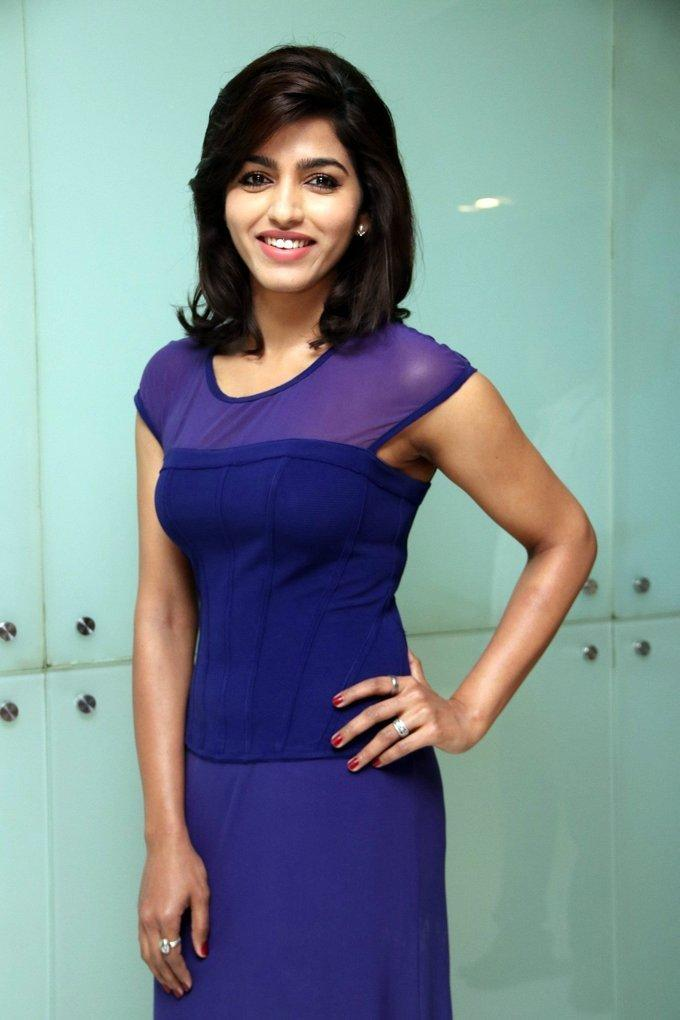 Tamil Actress Dhansika At Audio launch In Blue Dress