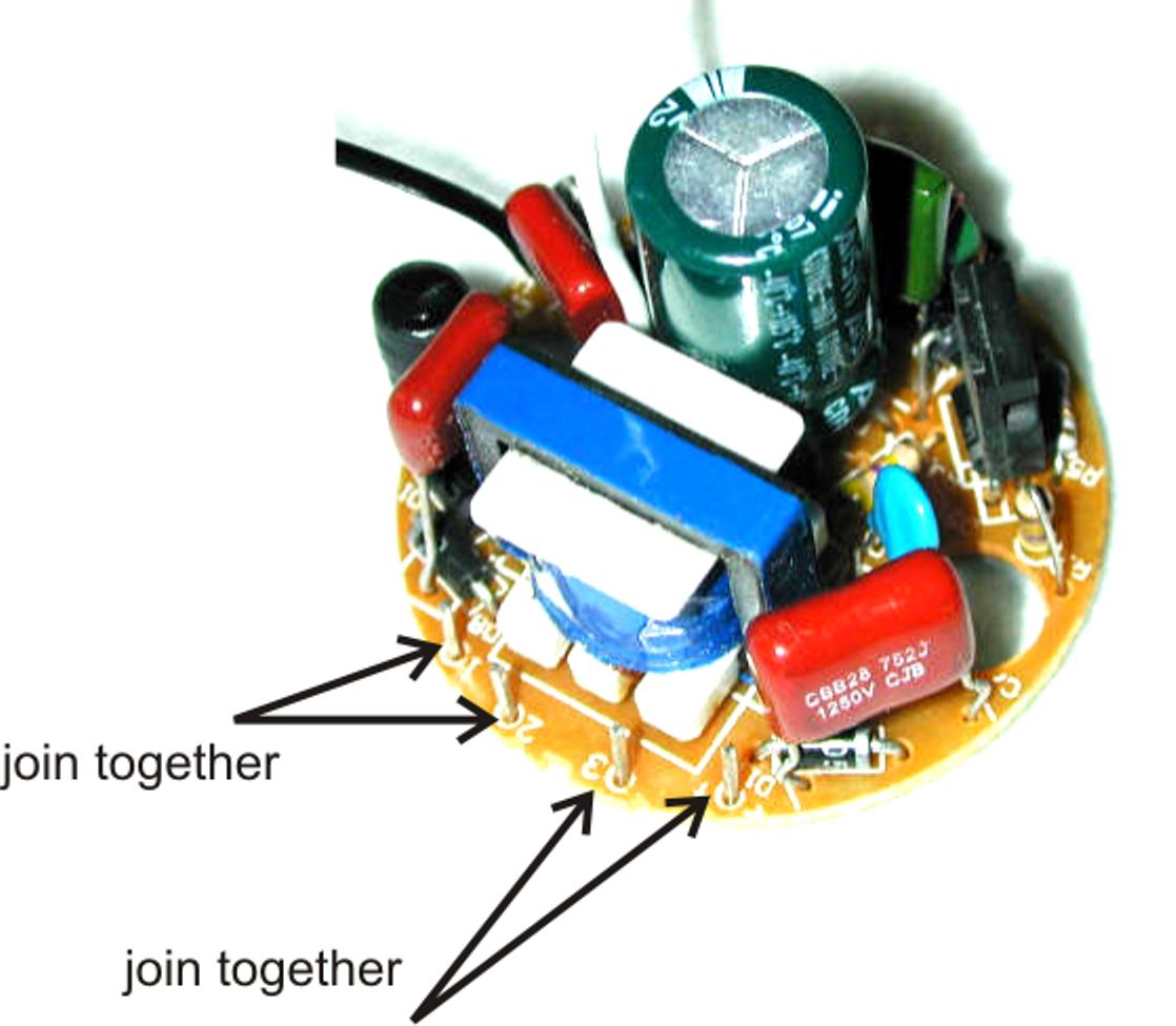 3 Watt Led Driver Circuit Diagram Kenmore Wiring Converting A Dead Cfl Into An Tubelight - Idea