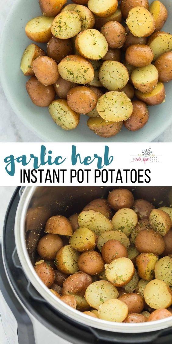 Garlic Herb Instant Pot Potatoes