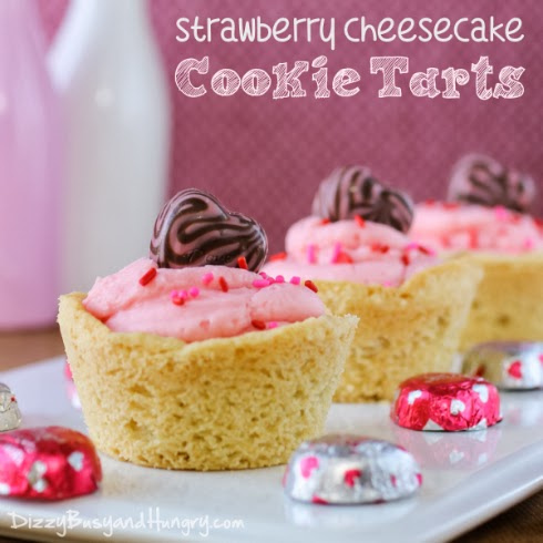 http://www.dizzybusyandhungry.com/strawberry-cheesecake-cookie-tarts/