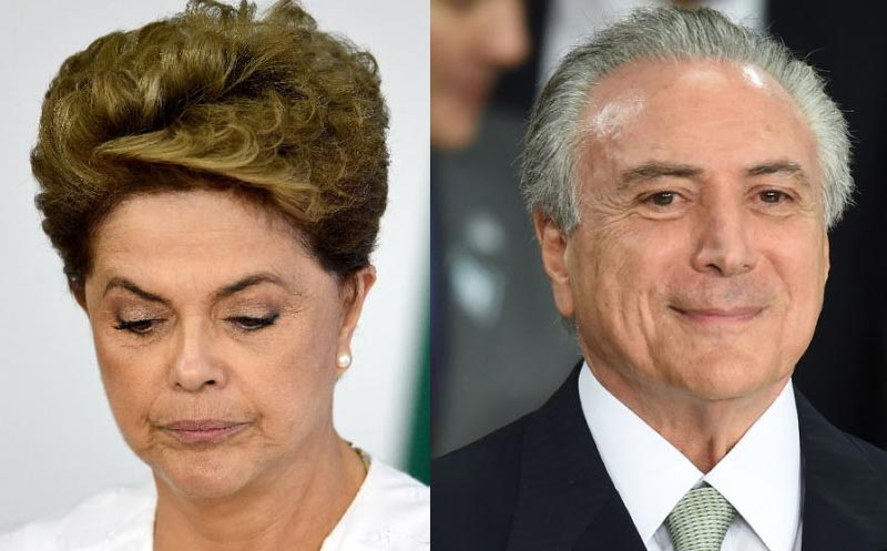 Brazil president Dilma Rousseff sacked, replaced by Michel Temer