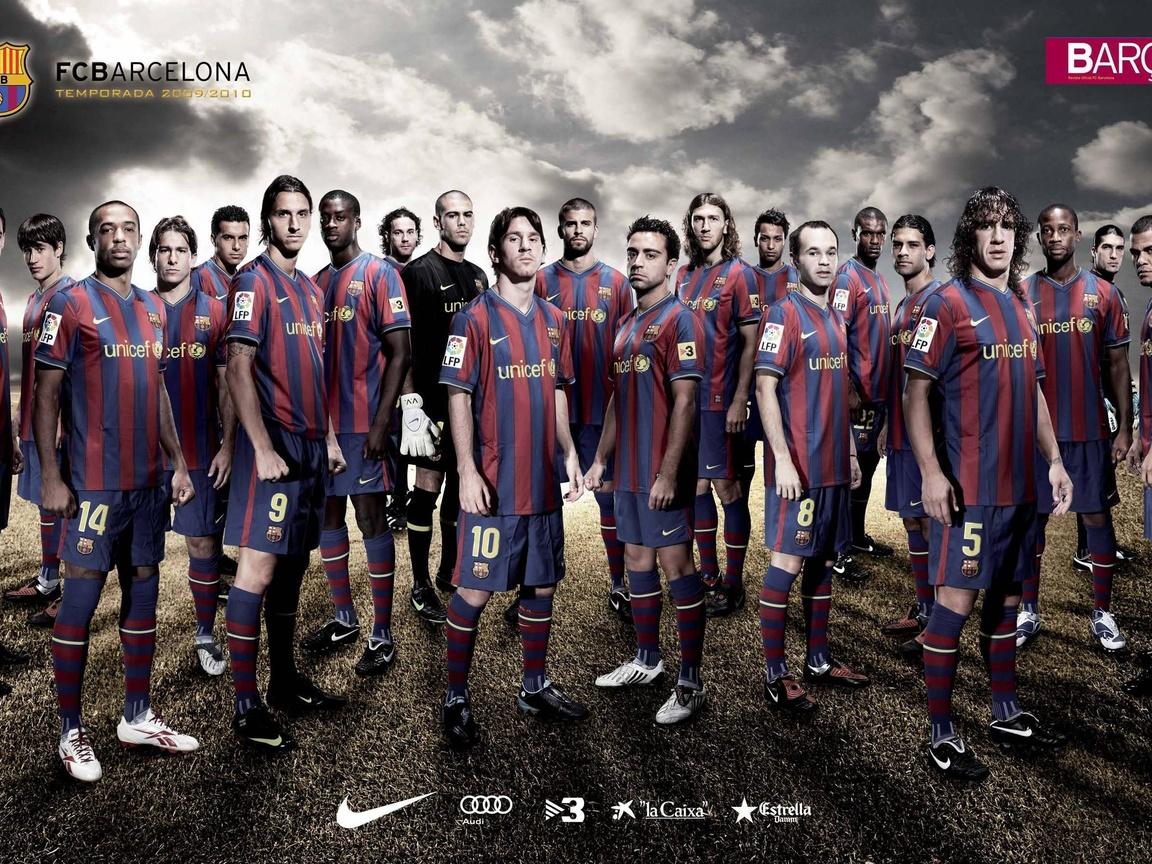 Barca Squad 2009 2010 Full Barcelona Players Wallpaper