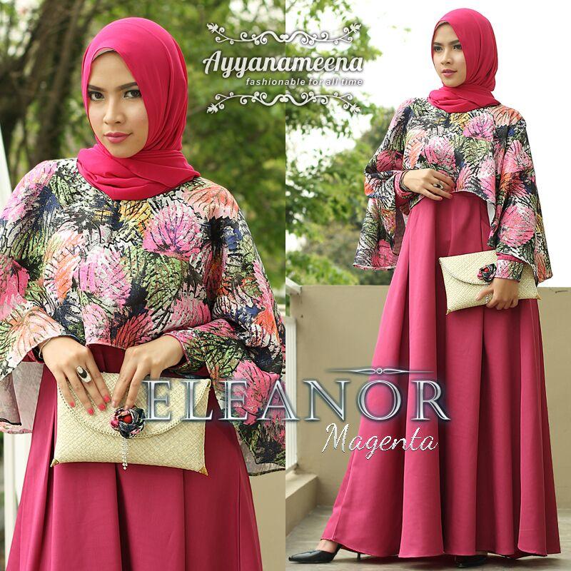 Jual Baju Busana Muslim Terkini Eleanor Dress By Ayyanameena