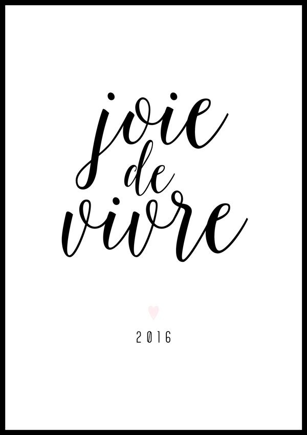 Joie de Vivre Planner Cover from Introducing Irma: The New Free Printables for 2016 by Eliza Ellis