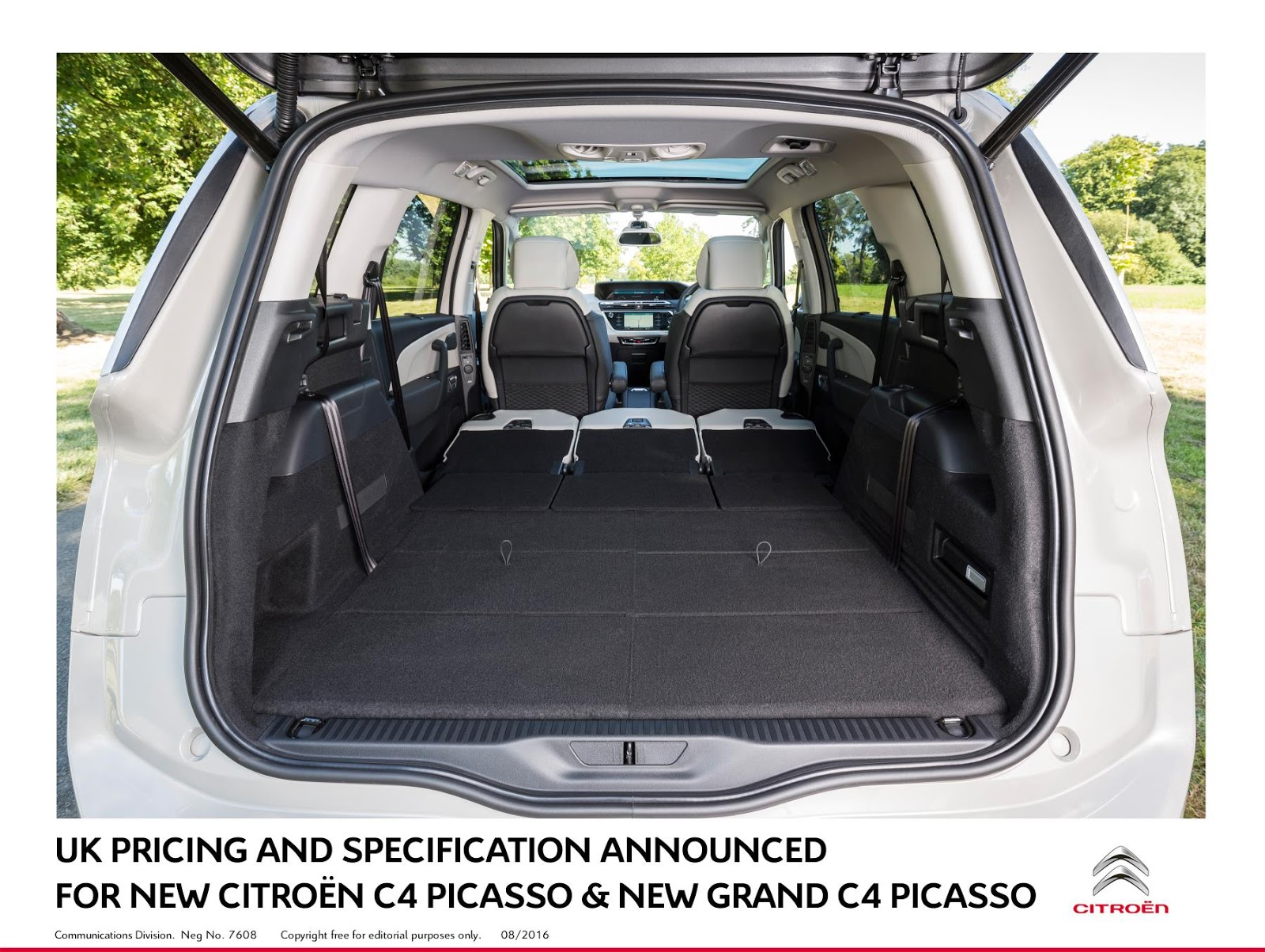 the motoring world citroen announces pricing and specs for the new updated c4 picasso and grand. Black Bedroom Furniture Sets. Home Design Ideas