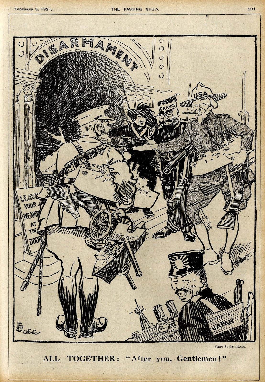 Cartoon Cliche Primer: After you, Gentlemen (Disarmament) 1921