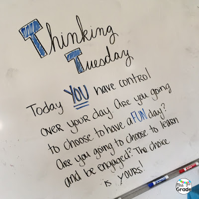 An inspiring or thought provoking message on your whiteboard in the morning can set the tone for your whole day!  How do you want to inspire your students today!?