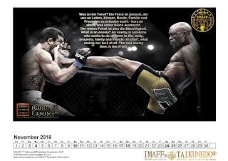 Most popular MMA calendar english / German