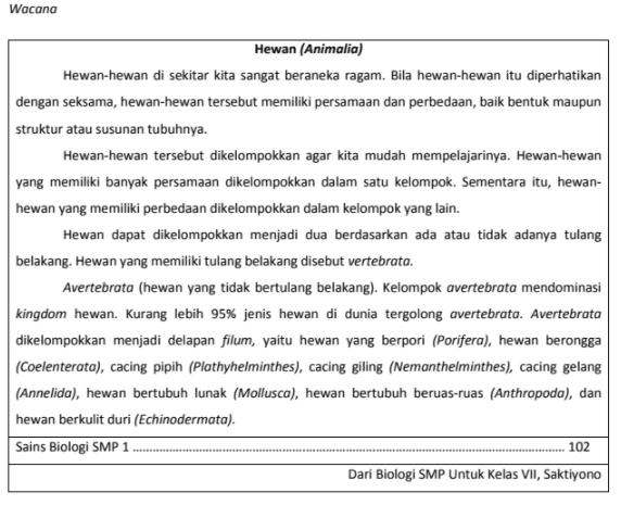 Soal TO UN Bahasa Indonesia SMP 2018