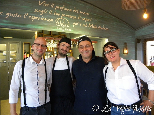 Pep's Fish House a Trieste lo staff