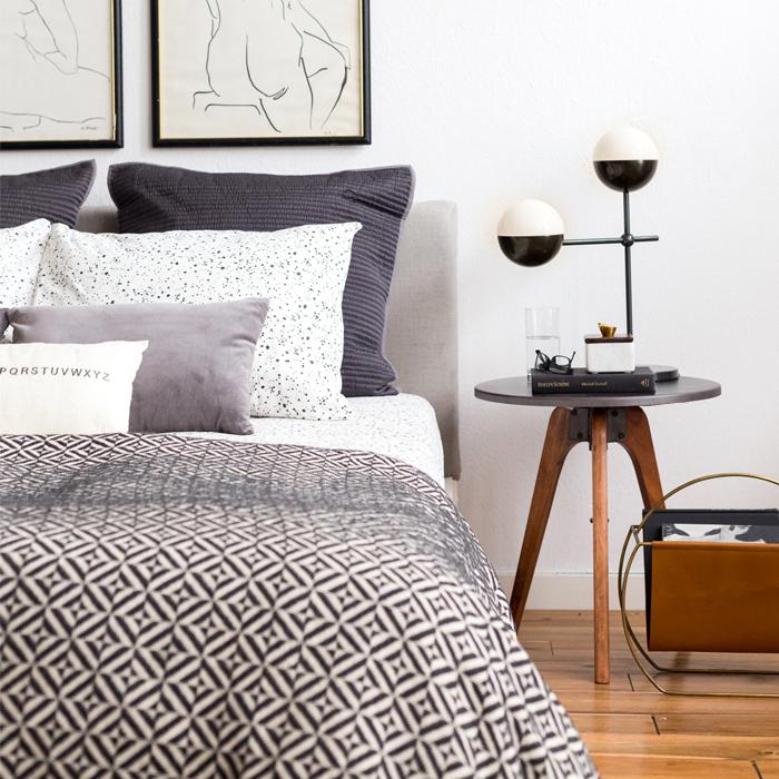 Dormitorio moderno y masculino