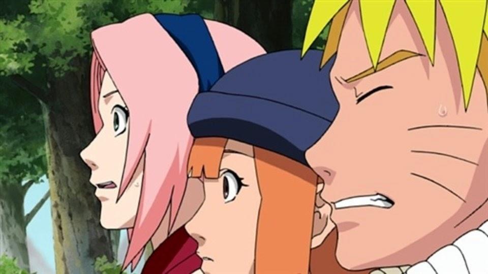 Sakura, Sasame y Naruto