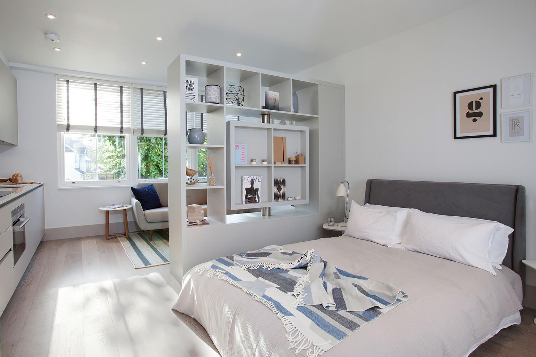 Перегородки для зонирования пространства в комнате - раздвиж.