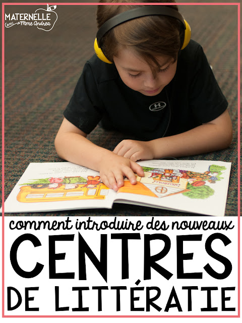 Introducing new literacy centres in maternelle can be HARD!! Here are my tips and tricks for centre success in your French kindergarten classroom!