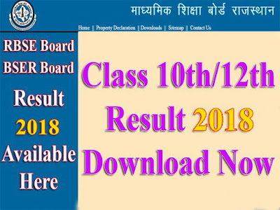 Rajasthan Board [RBSE] 10th Result 2018 | Raj Board X Class Result Download