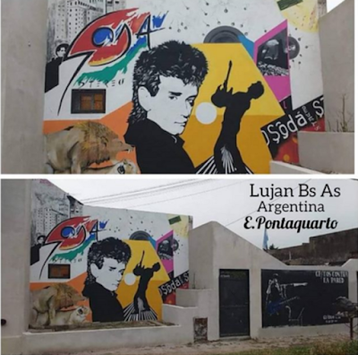 Murales de Soda Stereo y Cerati en Luján son declarados de Interés Artístico y Cultural.