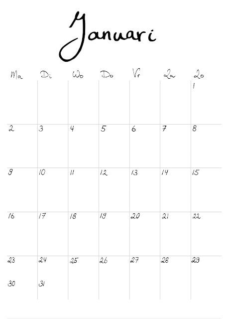 gratis maand kalender 2017